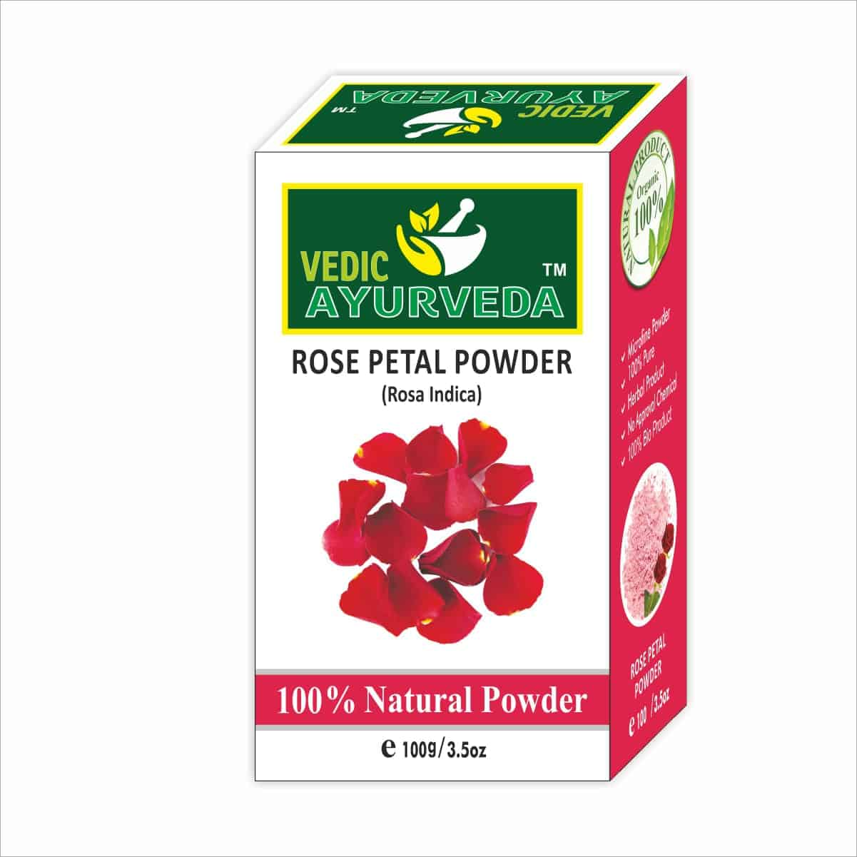 vedicayurvedas Rose petal powder