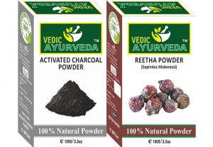 Activated charcoal and Reetha Combo