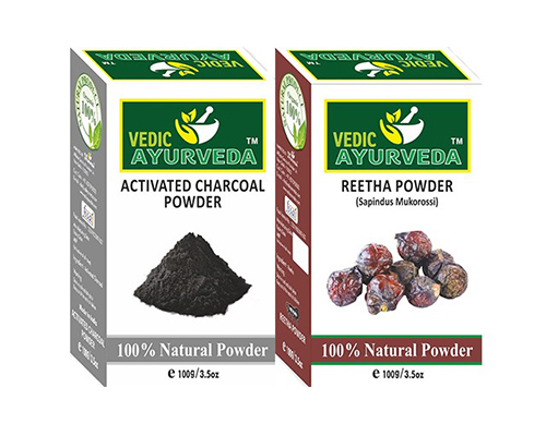Activated Charcoal & Reetha Powder Combo