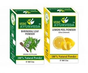 Bhringraj and lemon peel powder