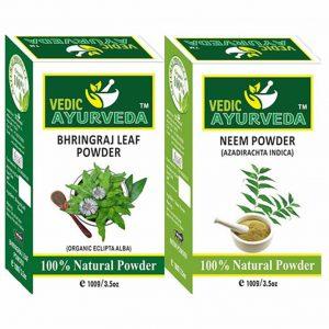 Bhringraj and neem powder