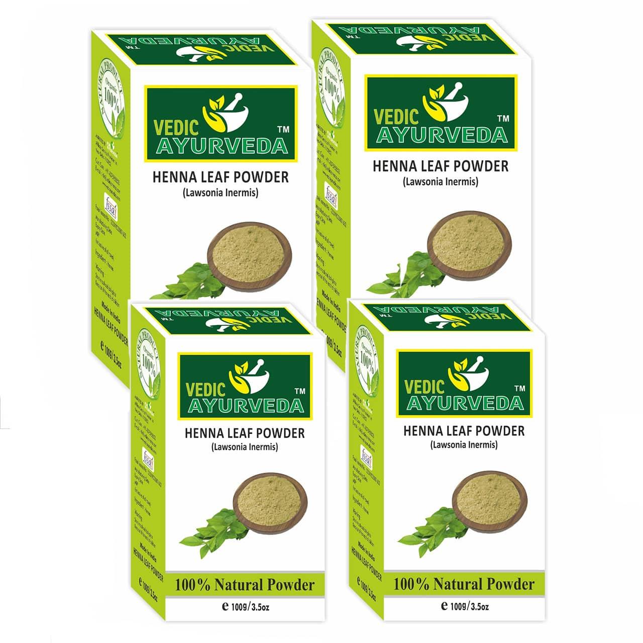 Vedicayurveda Henna Leaf Powder Combo