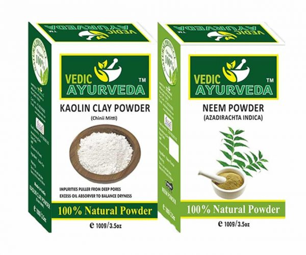 Kaolin clay and neem powder