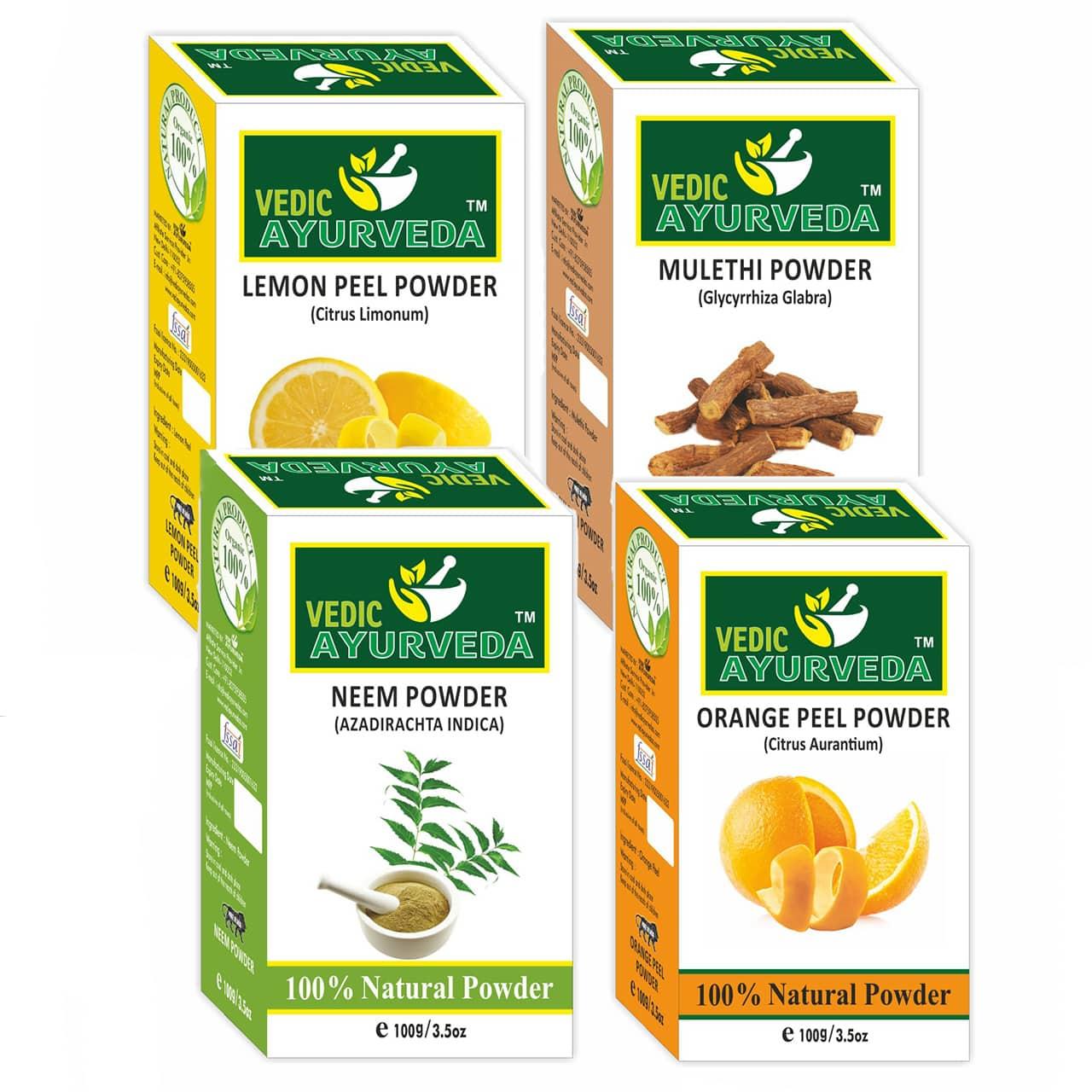 Lemon+Mulethi+Neem+Orange Powder Combo