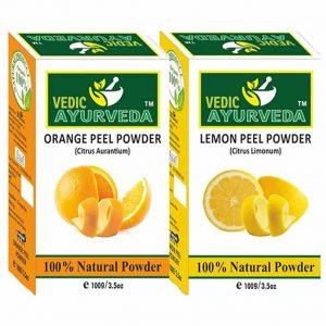Orange and Lemon peel Powder combo