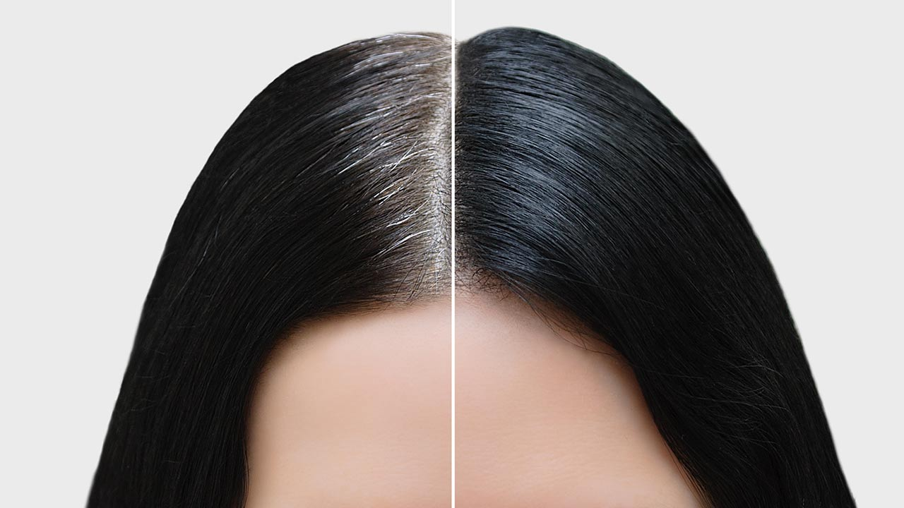 black color for hair