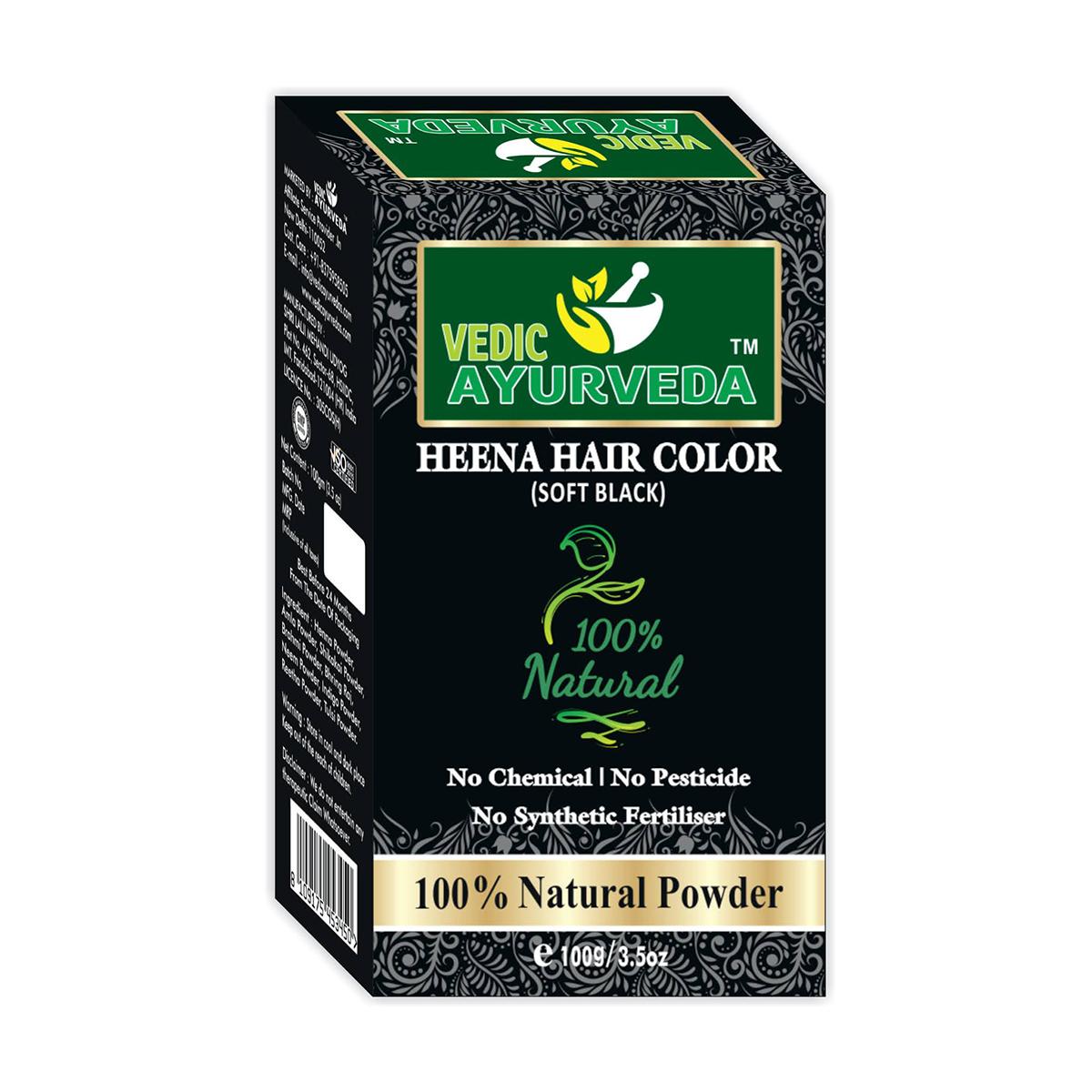henna hair color soft black