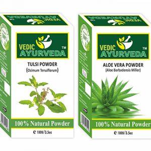 Tulsi and Aloe Vera Powder for Skin