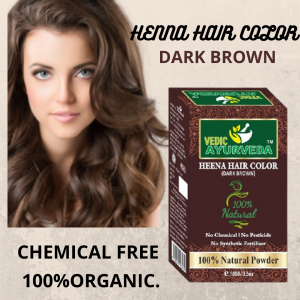 Natural Heena Hair Color Dark Brown