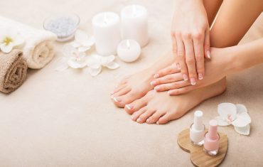 Orange Peel Oil Manicure and Pedicure