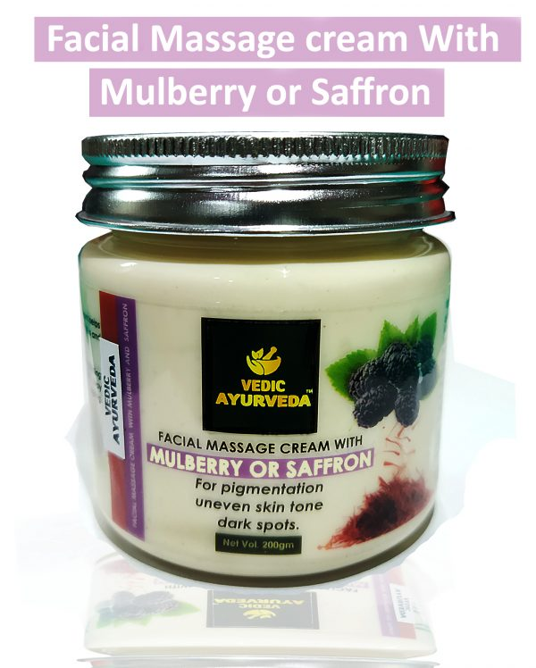 Facial massage cream with Mulberry and Saffron