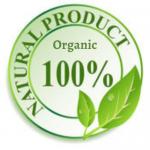 logo mark 100% organic natural